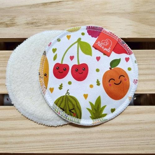 Abs seio reutilizável frutas