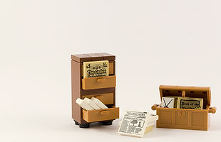 Ormar i škrinja s knjigama i dokumentima