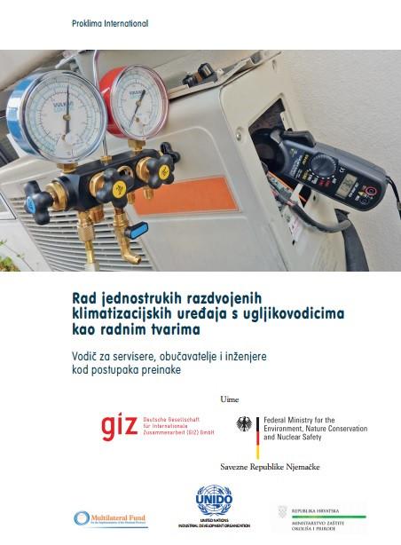 Rad jednostrukih razdvojenih klimatizacijskih uređaja s ugljikovodicima kao radnim tvarima