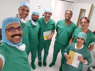 Foreign surgeons come to visit