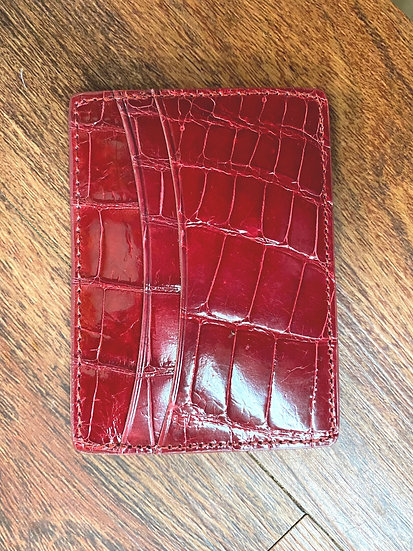 Royal Red Alligator card case