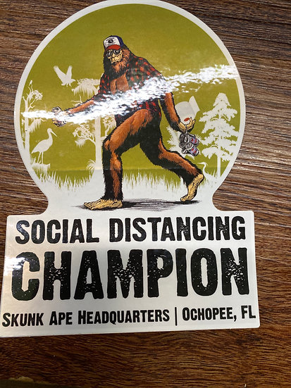 Social Distancing Champion Decal