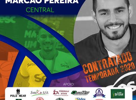 Central Marcão Pereira é o novo reforço do Vôlei Futuro
