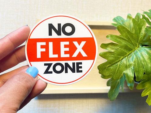 No Flex Zone Sticker