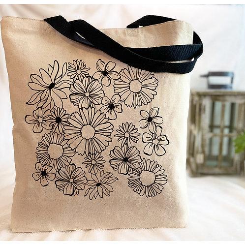 Flower Doodle2 Canvas Tote Bag