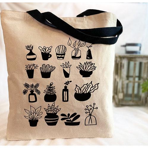 Succulents Canvas Tote Bag