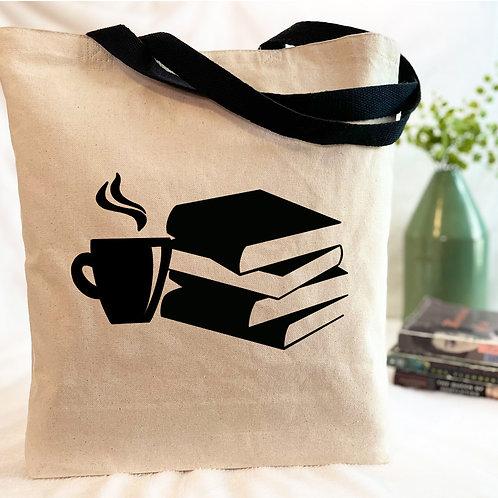 Coffee & Books Canvas Tote Bag