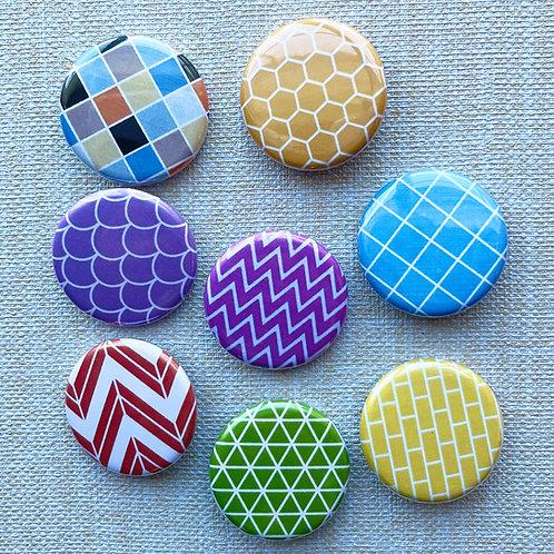 Flair Pattern Set Pin Badge & Magnets