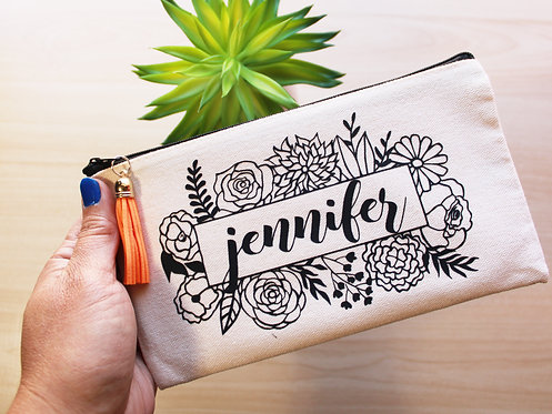 Personalized Canvas Pouch bag