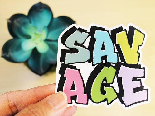 SAVAGE Sticker