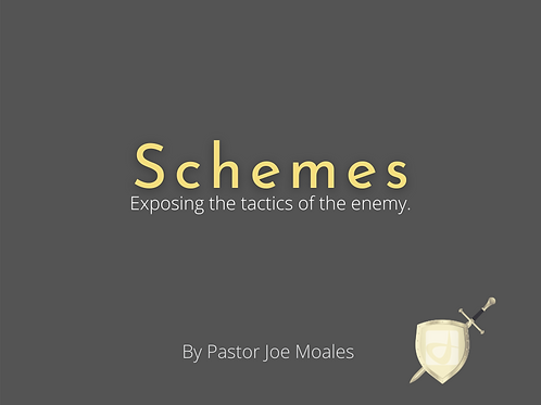 """Schemes, """"Exposing the Tactics of the Enemy"""" by Pastor Joe Morales(Audio)"""
