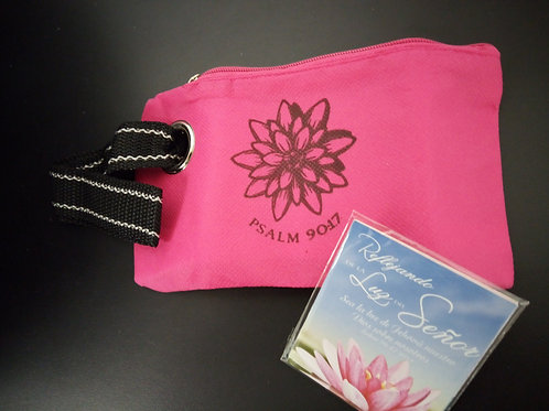Pink Mini Accessary Bag with rise strap
