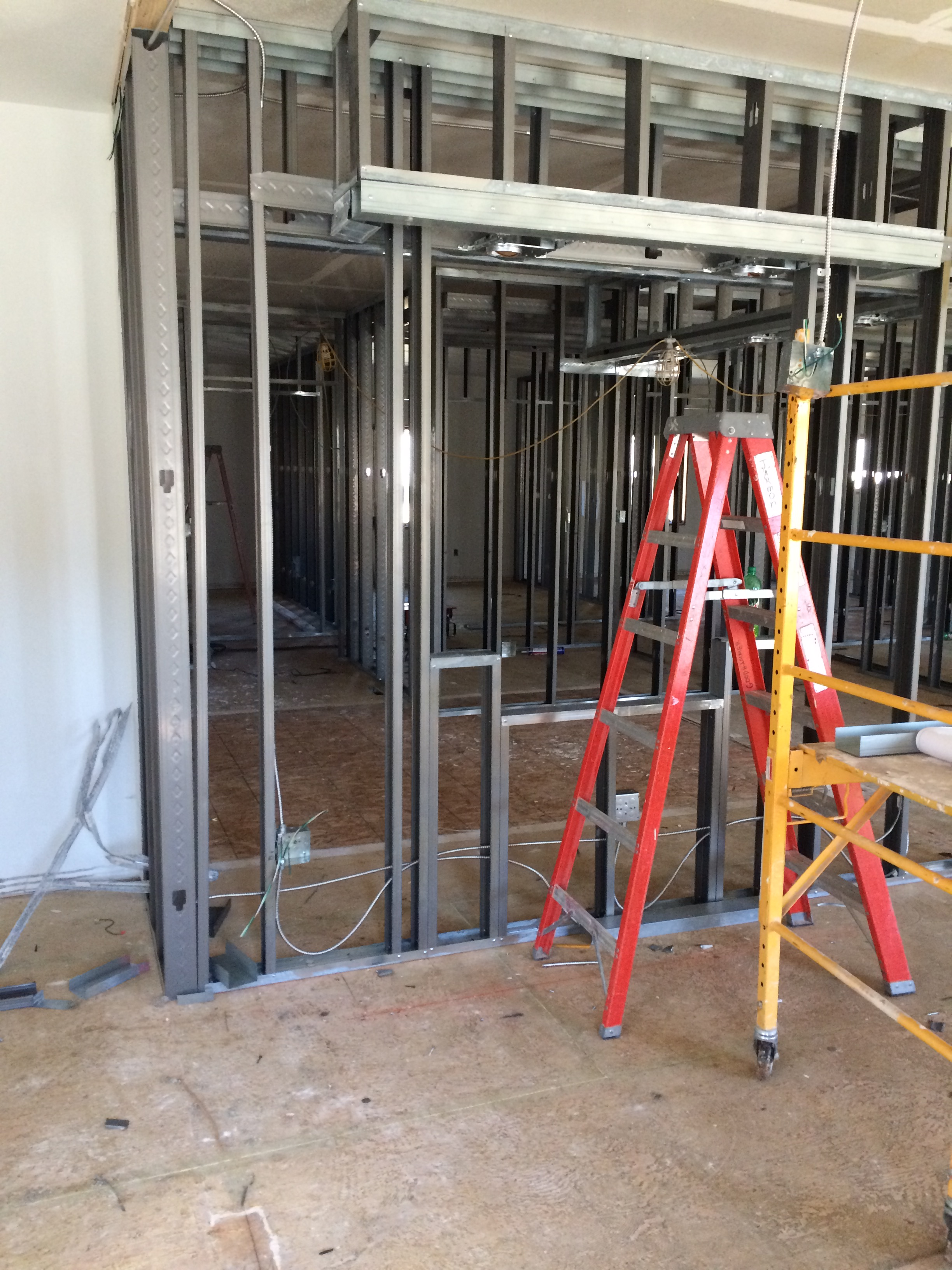We have walls! Future Check-in Area