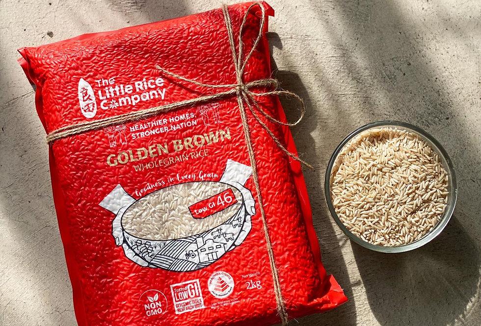 Low GI Wholegrain Golden Brown Rice 2kg ($9.80/pack)