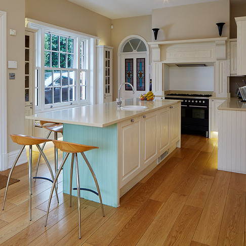 Light and Airy Island Kitchen