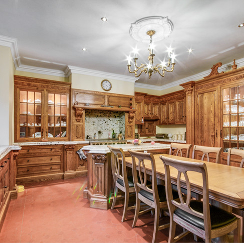 Classically Ornate Country Kitchen