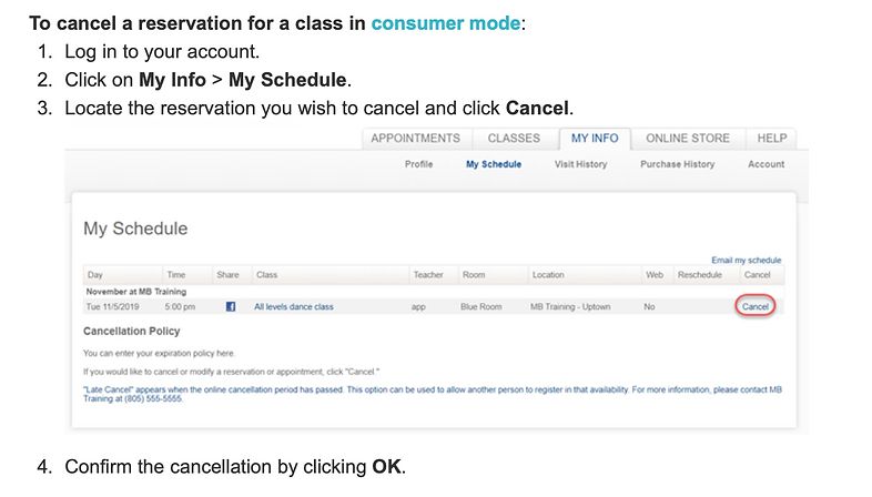 How to Cancel my reserved class.png
