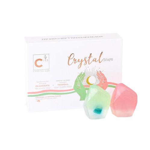 Crystal Soap Kits - Malachite + Rose Quartz