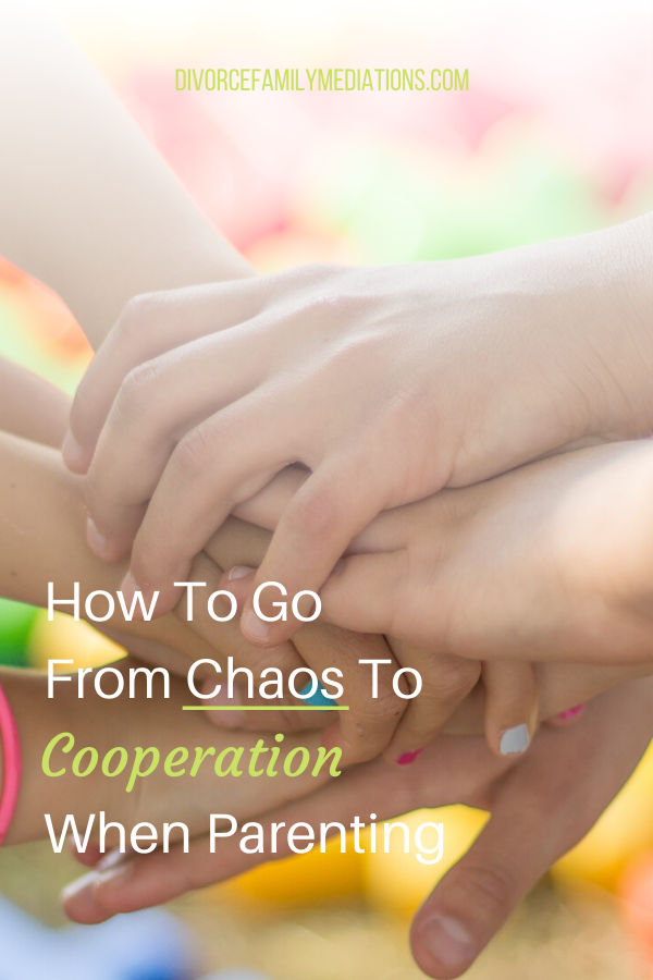Are you children showing disruptive behavior due to the stress of divorce? Follow these three steps to go from chaos to cooperation #parenting #divorce #coparenting #positiveparenting
