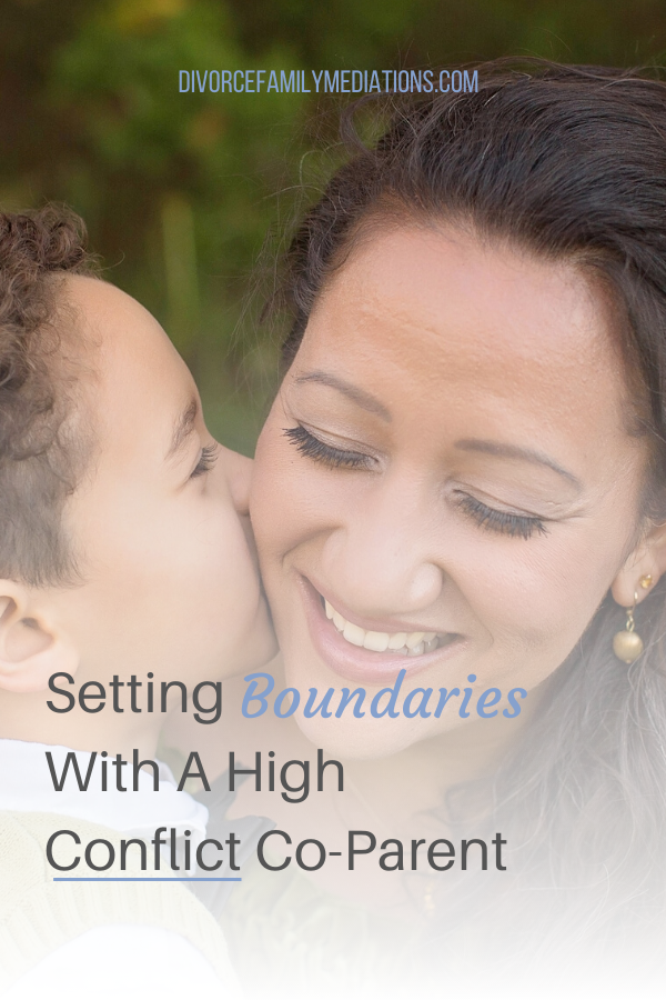 Are you co-parenting with someone who just want to make things challenging? Here is how to set healthy boundaries with your ex. #coparenting #boundaries #divorce #coach #parenting