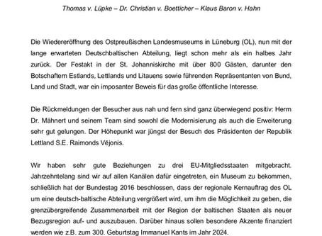 Die deutschbaltische Museumsabteilung in Lüneburg - Ein Statement