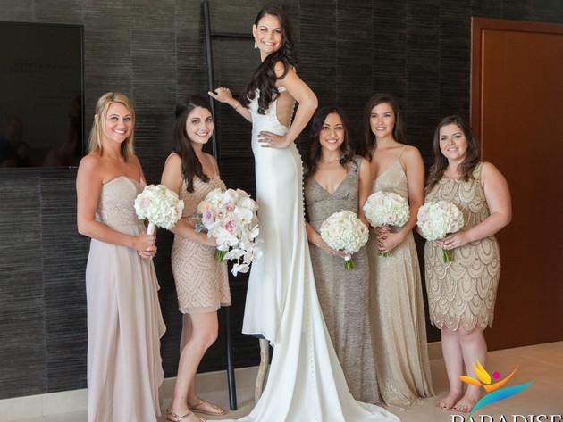 turks and caicos destination bridal party