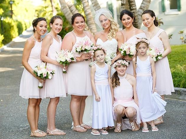 Destination wedding party turks and caicos