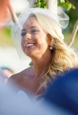 turks and caicos bride glowing 1