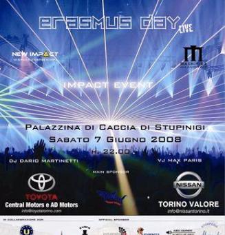 """""""ERASMUS DAY LIVE"""" Un Evento per ricordare i primi 20 anni del Programma Europeo Erasmus."""