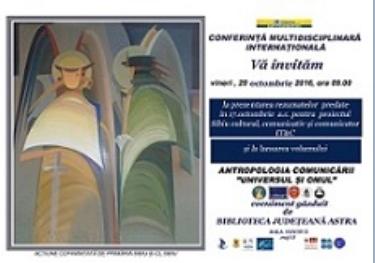 """UNDER THE PATRONAGE OF U.C.E.E. - SYMPOSIUM """"THE MAN AND THE UNIVERSE"""" SIBIU, ROMANIA."""