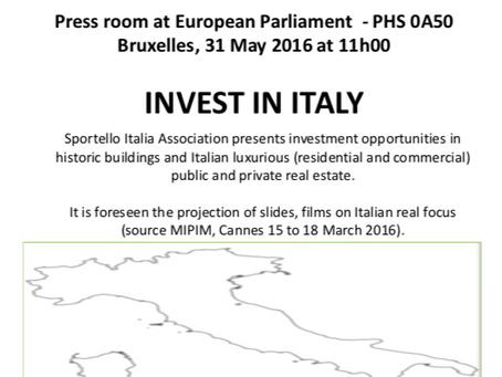 "Press Conference at European Parliament for the presentation of the Project: ""SPORTELLO ITALIA"""