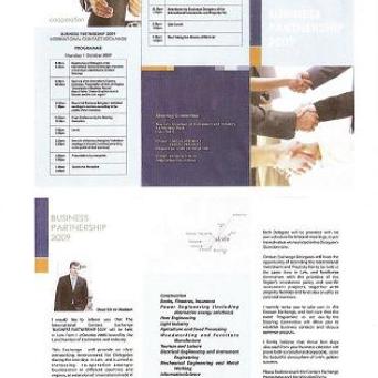 MISSIONE ECONOMICA UCRAINA - BUSINESS PARTNERSHIP 2009 - INTERNATIONAL CONTACT EXCHANGE.