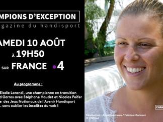 Diffusion du 9e numéro de CHAMPIONS D'EXCEPTION le samedi 10 août sur France 4