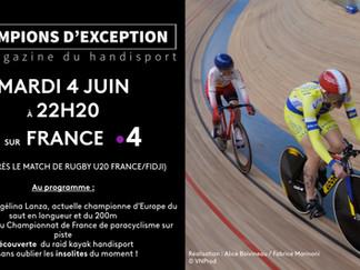 Diffusion du 8e numéro de CHAMPIONS D'EXCEPTION le mardi 4 juin sur France 4