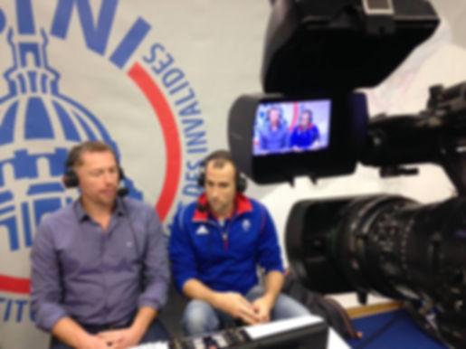 Fabrice Marinoni et Romain Noble au commentaire d'Handisport TV