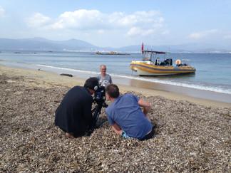 [PHOTOS DE TOURNAGE] En Corse, sur le tournage du documentaire sur Thierry Corbalan ...