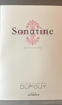 Sonatine pour piano seul