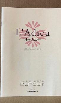 L'Adieu pour piano seul (Ave Maria)