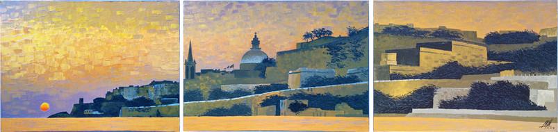 Valletta Sunrise Skyline