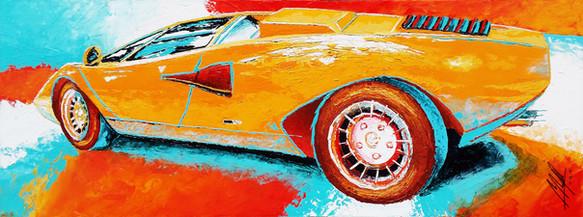 80cm X 30cm X 3cm - Impasto acrylics on canvas