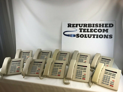 Lot of (10) Used AASTRA Nortel Telephones, Ash in color, M8009, NT2N24AD2