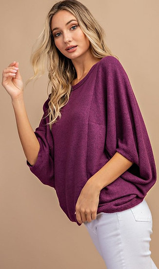 Make Your Choice  Sweater - Plum