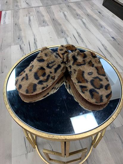 I'm Walking On Air Leopard Slippers