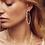 Thumbnail: Scarlet Gold Hoop Earrings In White Pearl