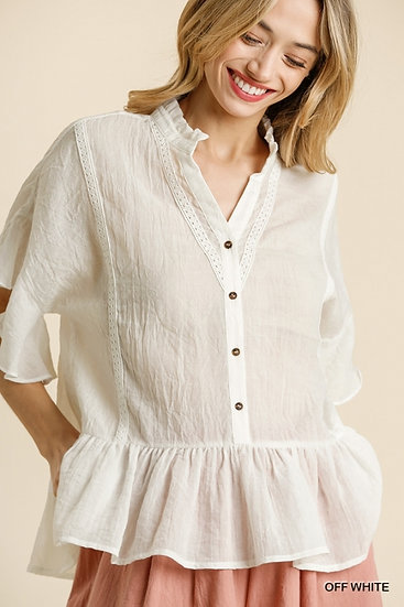 Sweet Days Off White Blouse