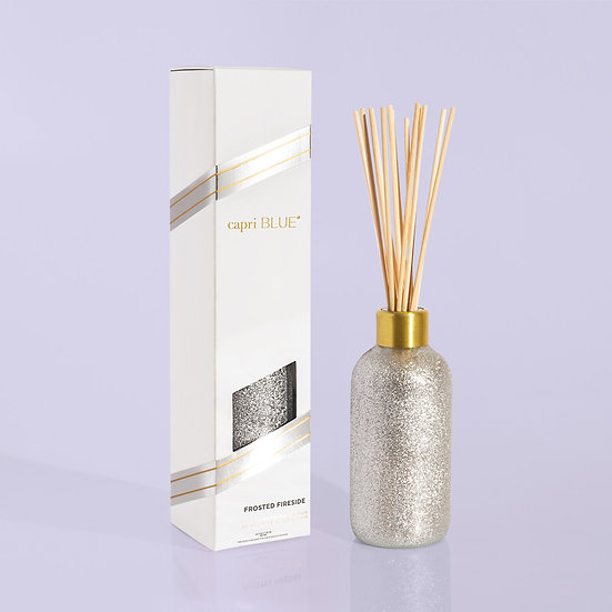 Frosted Fireside Glam Reed Diffuser, 8 fl oz