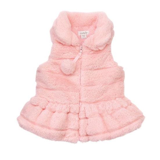 Pink Fur Vest (Mudpie)