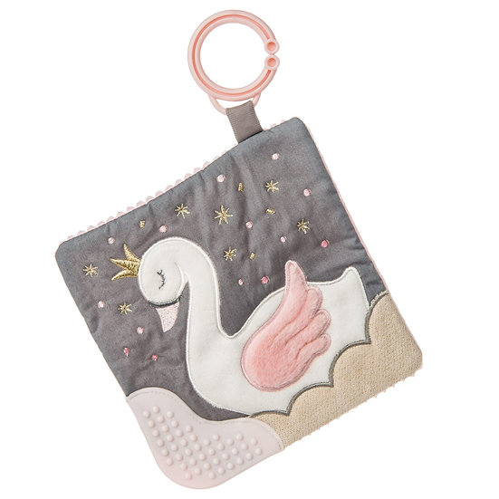 Itsy Glitzy Swan Crinkle Teether