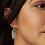Thumbnail: Dani Gold Drop Earrings In Slate Cats Eye