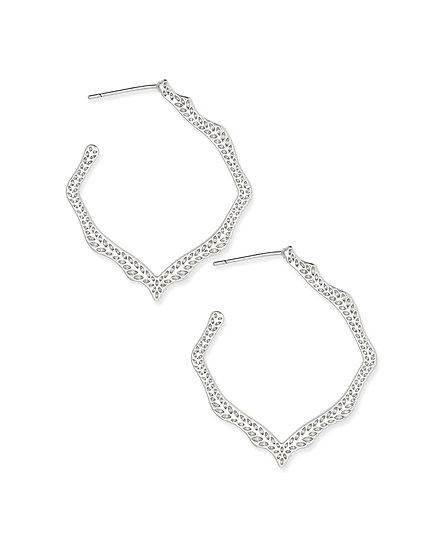 Miku Hoop Earrings In Silver